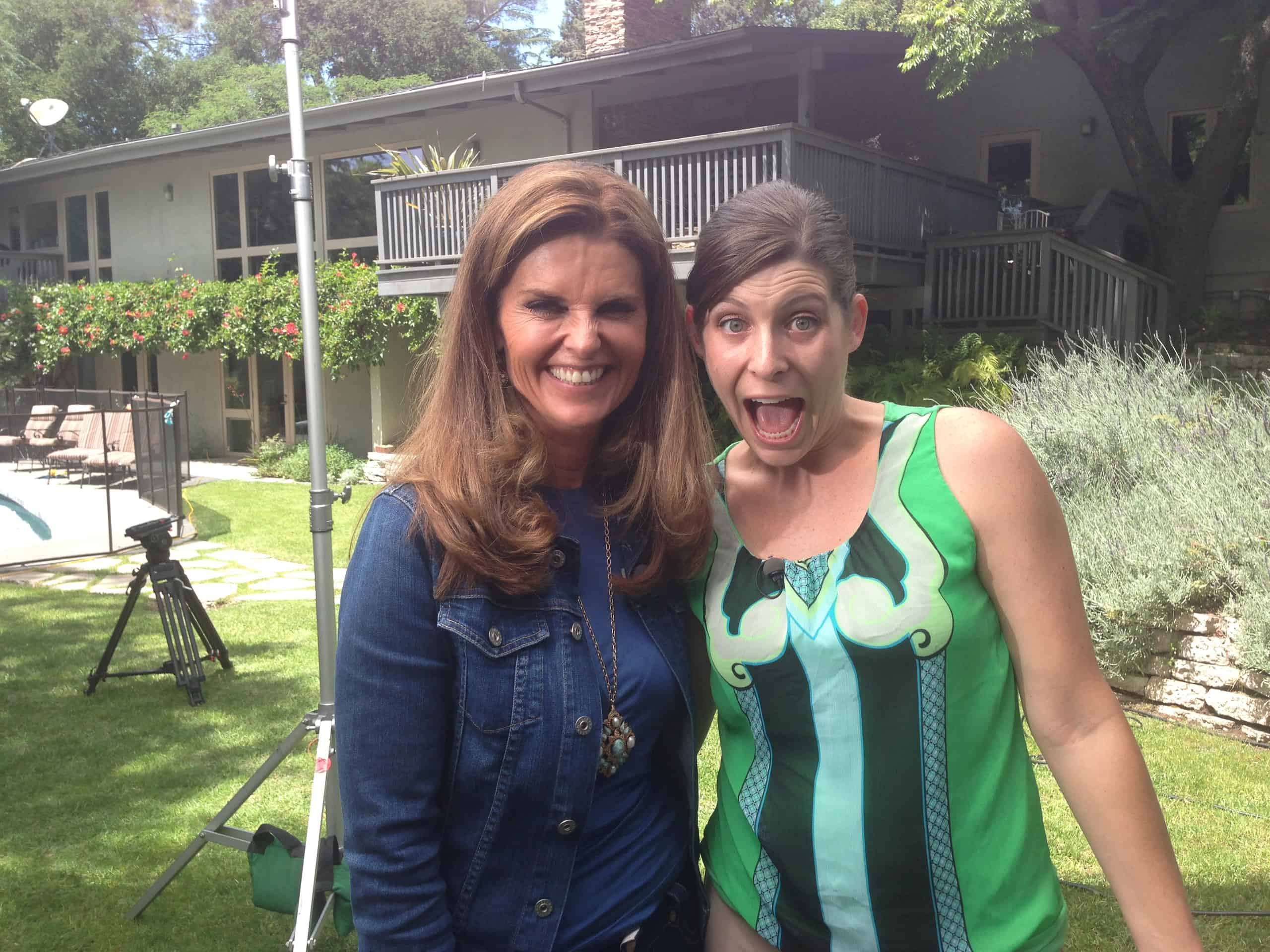 Nicole Blaine and Maria Shriver
