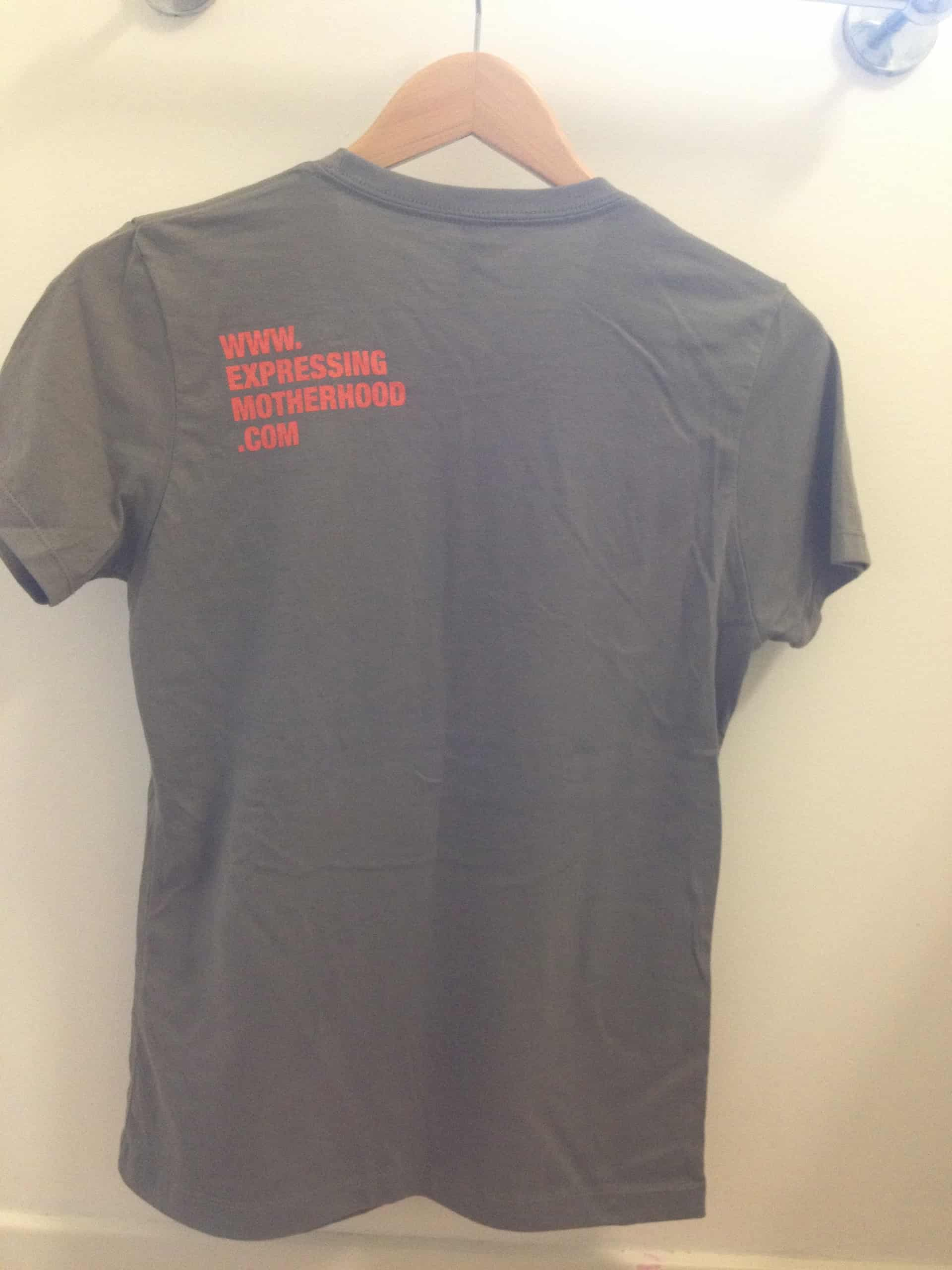 Here is the back of the t-shirt.