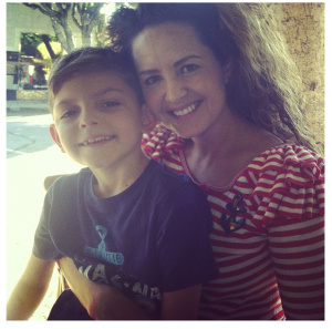 Yvonne and her son, Josiah